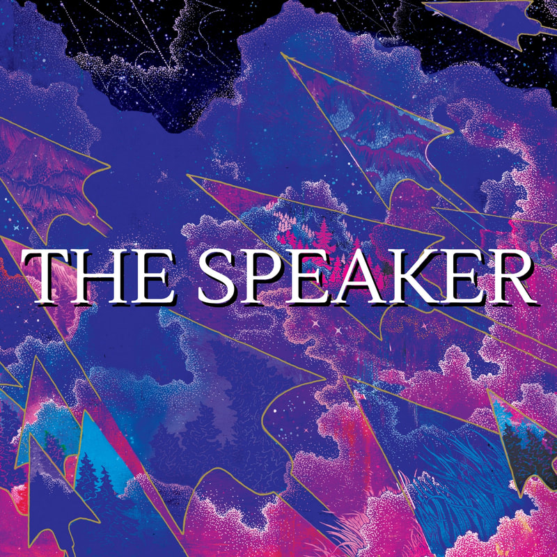 The Speaker (The Reader Trilogy) playlist album cover, featuring pink and purple illustrations from the cover of THE SPEAKER by Traci Chee