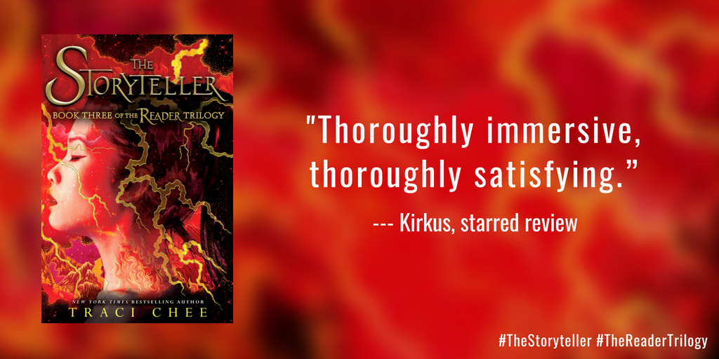 pull quote from the Kirkus starred review of The Storyteller: