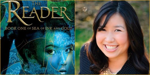 side-by-side images of the cover of THE READER by Traci Chee and of Traci Chee