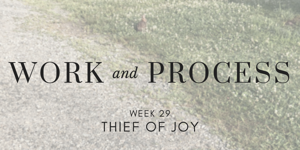 Work and Process Week 29: Thief of Joy